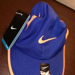 NIKE DRI-FIT blue/coral hat